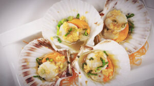 Steamed Scallops from Chinese restaurant in Gosforth NE3 Newcastle upon Tyne